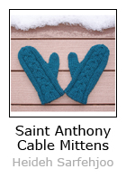St. Anthony Cabled Mittens